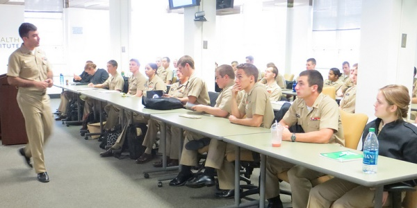 Ardito leads a NROTC course at Duke.