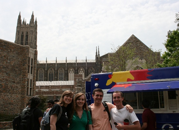 group in front of Duke Chapel
