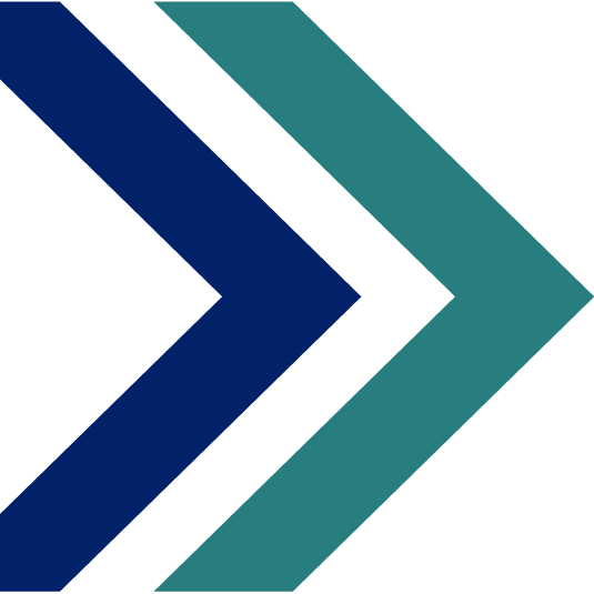 navy and turquoise arrows pointing right, CSPD logo