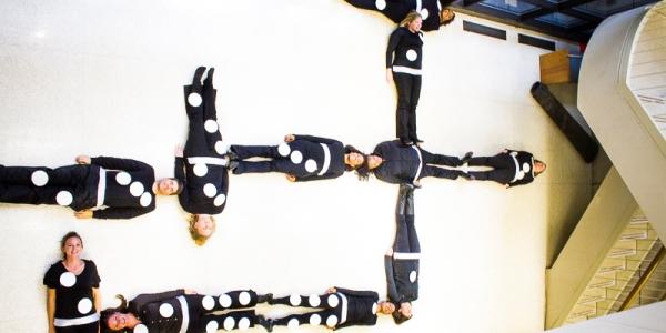 PMP staff dressed as dominos