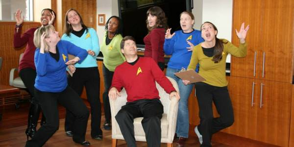 Duke MEM staff dressed as Star Trek characters
