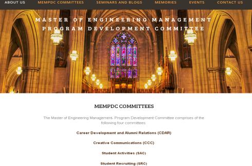 MEMPDC website screenshot